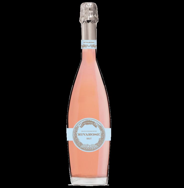 Rosé Rivarose vin effervescent